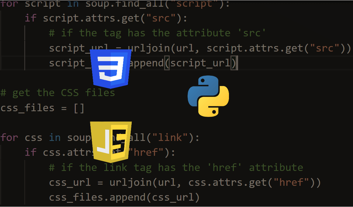 How to Extract Script and CSS Files from Web Pages in Python