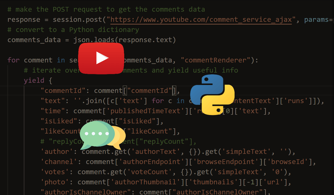 How to Extract YouTube Comments in Python