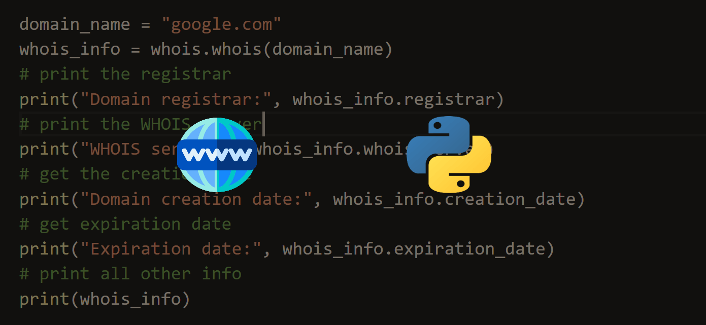 How to Get Domain Name Information in Python