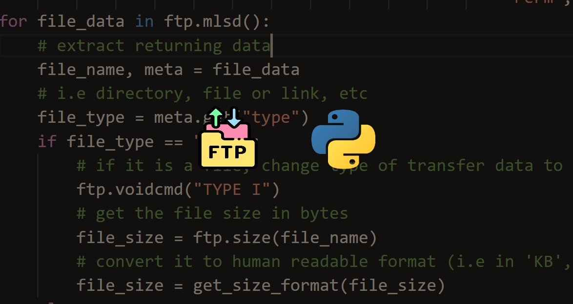 How to List all Files and Directories in FTP Server using Python