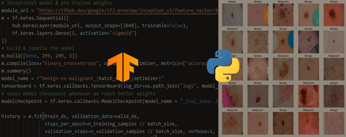 Skin Cancer Detection using TensorFlow in Python