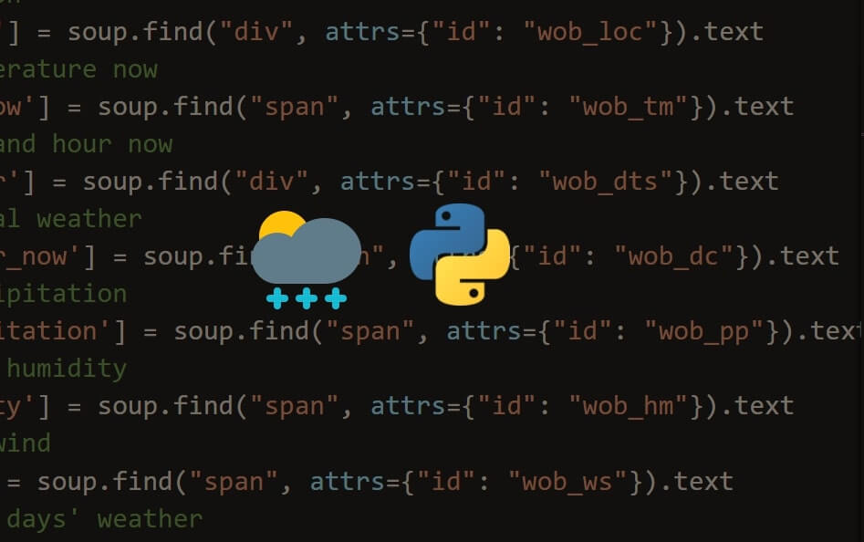How to Extract Weather Data from Google in Python
