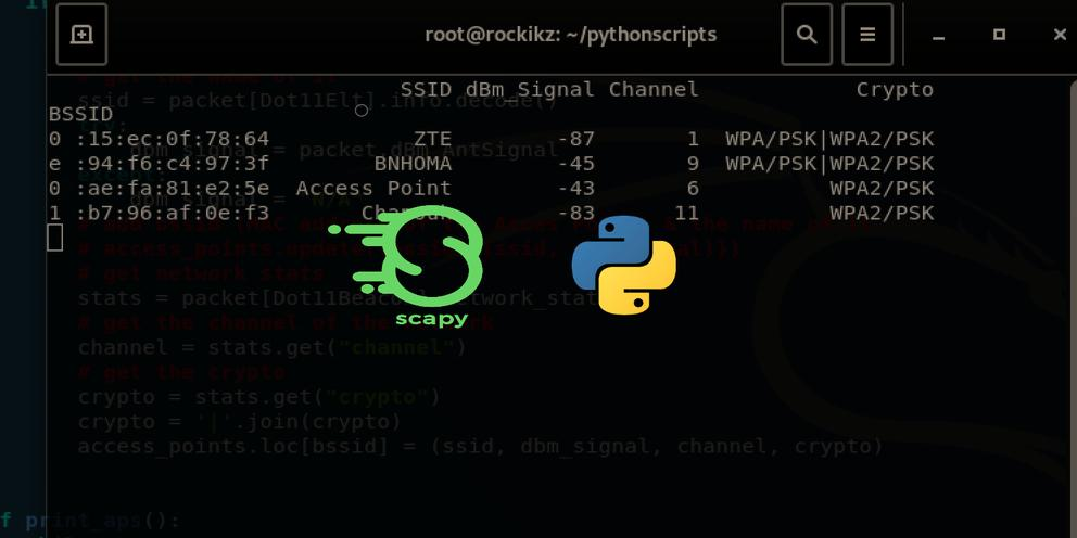 How to Build a WiFi Scanner in Python using Scapy