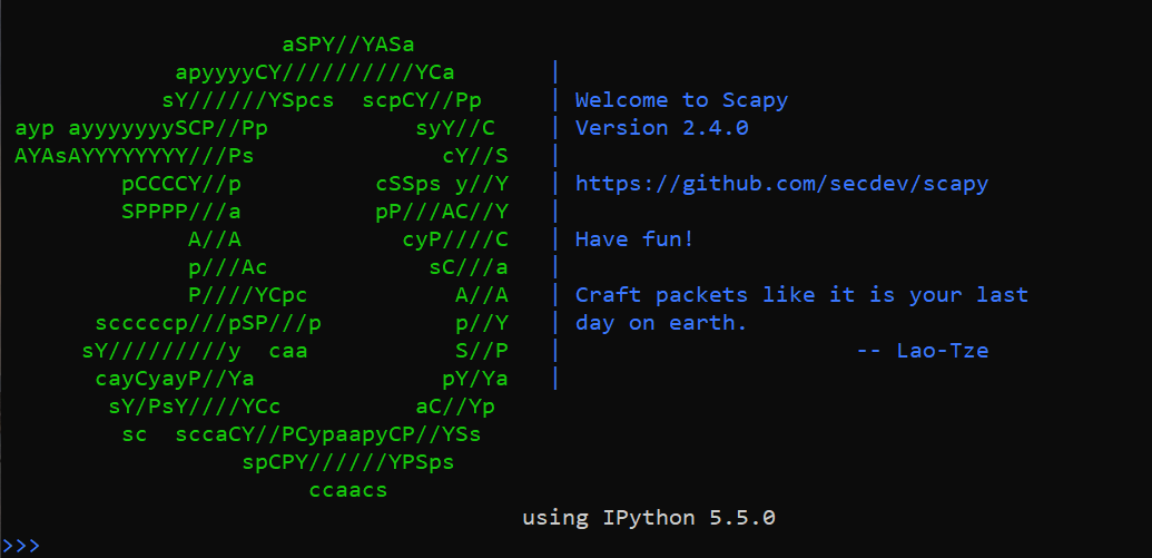 Packet Manipulation Using Scapy